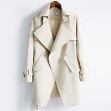 2018 Fashion Trench Coat For Women's Long Coat Female Windpr