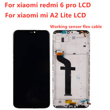 LCD display For Xiaomi Mi A2 Lite 5.84 inch touch screen digitizer assembly For Xiaomi Redmi 6 Pro Frame With Free Tools все цены