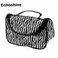 2016 hot sale Women Ladies Makeup Cosmetic Case Toiletry Bag Zebra Travel Handbag  gift wholesale bolsa feminine