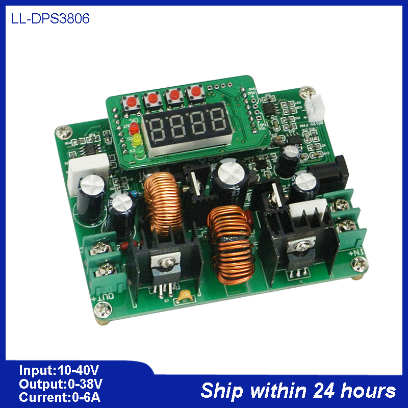 CNC DC Regulator Power Supply/CNC DC-DC Step-down Module/Digital Display 38V 6A Voltammeter/DC Constant Current Powe Supply Set