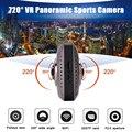 Câmera Digital Gravador de Vídeo Da Câmera Panorâmica 360 VR Mini WiFi DV Esportes de ação Dupla Face Olhos de Peixe Lente Sensor de Gravidade Cam
