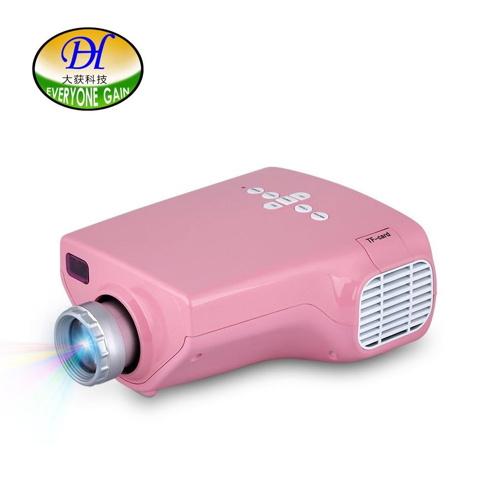 Tout le monde gagne Mini20 mini Projecteur LED Projektor jouets projecteurs vidéo portables Projecteur LED Pico Projecteur rose pour les enfants