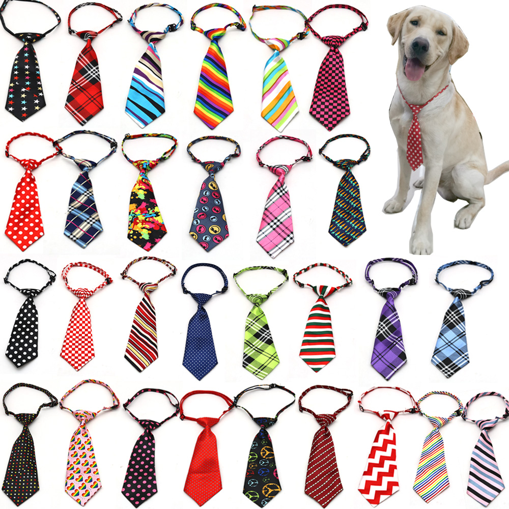 New 100pcs Dog Accessories Middle Large Dog Pet Supplies Large Dog Ties Collar Adjustable Bowties Neckties
