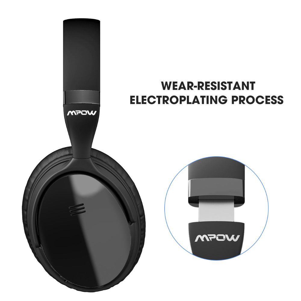 Original Mpow H5 2nd génération ANC sans fil Bluetooth casque filaire/sans fil avec micro sac de transport pour PC iPhone Huawei Xiaomi - 3
