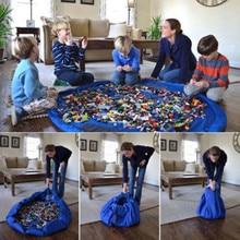 Portable Kids Toys Organizer Size  Child Tidy Bag Lego Mat Storage Drawstring Travel Holder