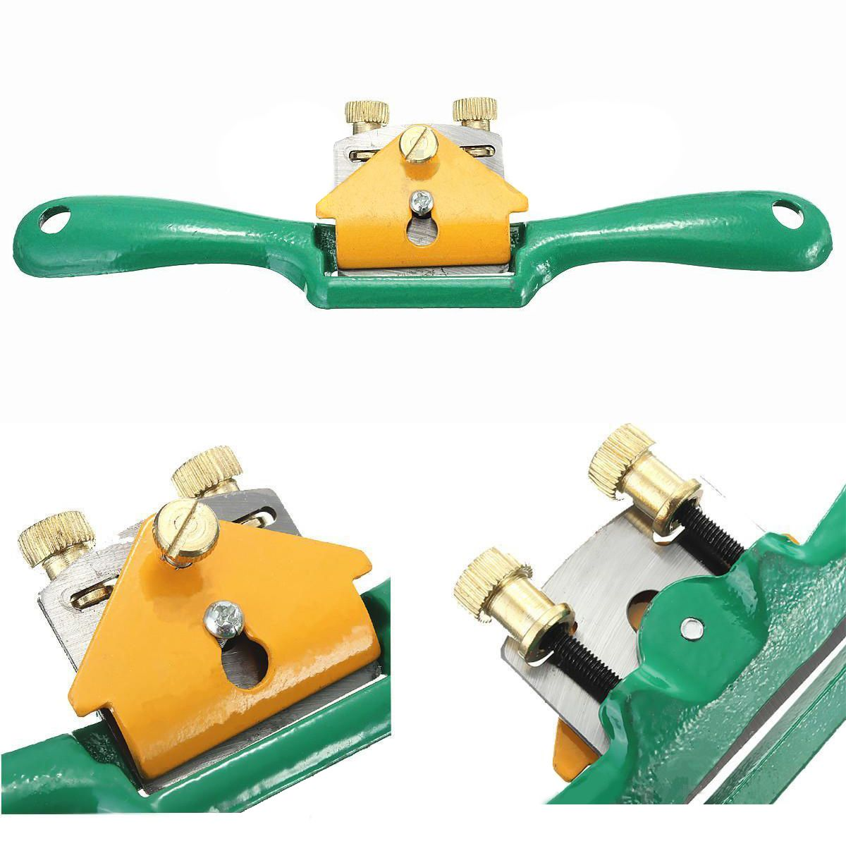2017 Iron Spoke Shave Plane Mayitr Metal Cutting Edge Wood Shaping For Woodworker Woodworking Machinery 44mm high quality metal blade spoke shave plane adjustable wood craft spoke shave plane for woodworking hand tools new