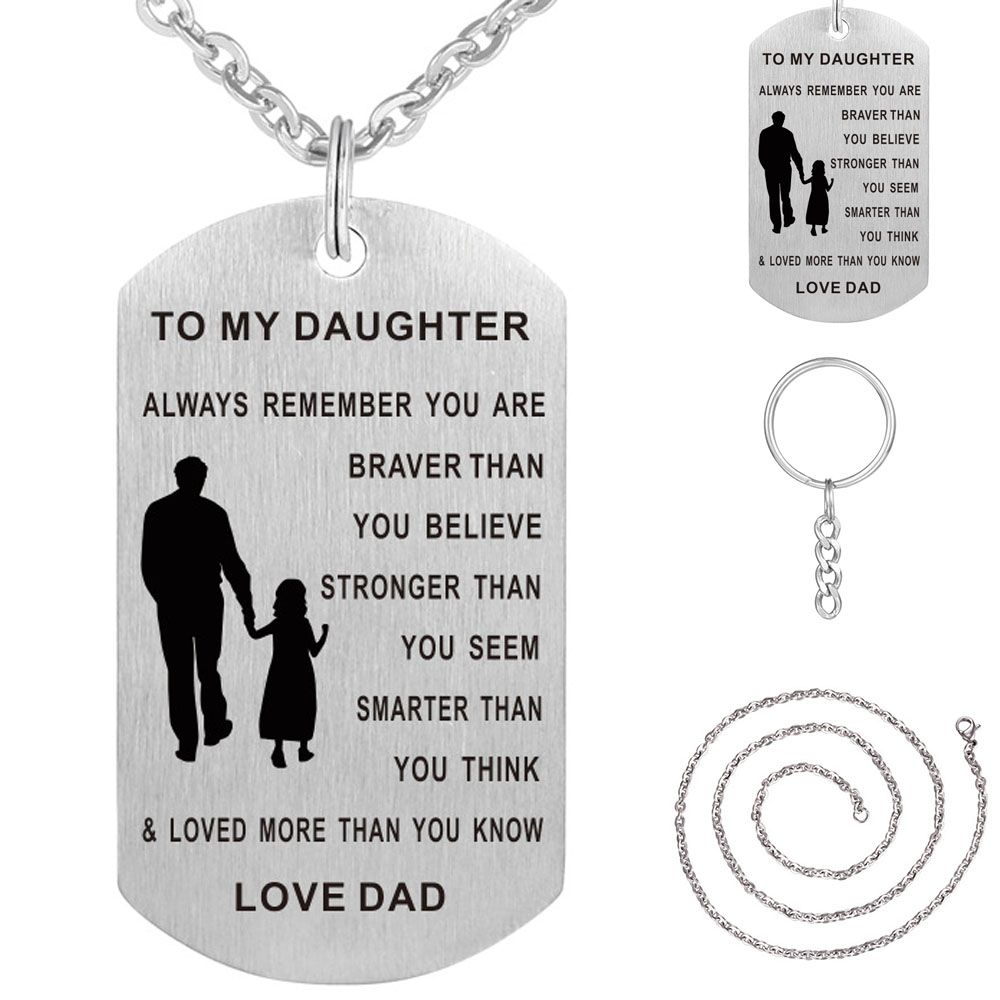65540330e TO MY SON Stainless Steel Pendant Necklaces Engrave Name Love Dad ...