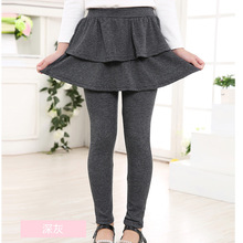 Spring Autumn models 2019 new two-piece skirt girls wear self-cultivation leggings 4 5 6 7 8 9 10 years old baby girl clothes