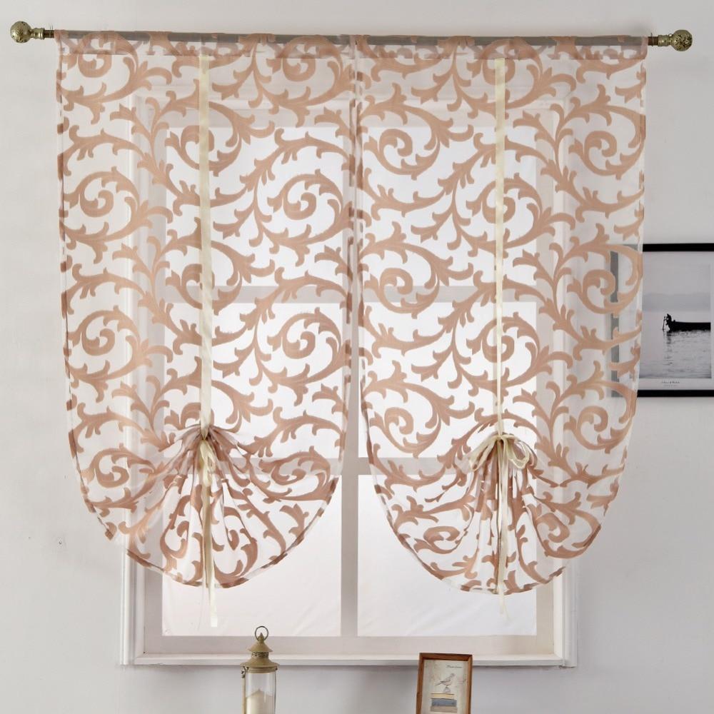 Panel Tulle Curtain Window Curtain Home White Short Modern