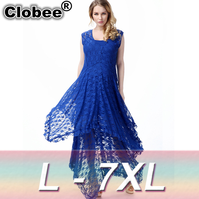 95baabdba5d Clobee Women Dress Party Evening Elegant Summer Irregular Lace Vestidos De  Festa Dress longo Gothic Wedding Chiffon Maxi Dress