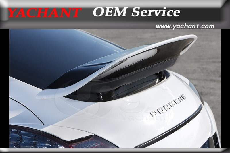 Acessórios do carro De Fibra De Vidro FRP Spoiler Traseiro Apto Para 2010-2013 Porsche Panamera 970 VD Aero Estilo Tronco Traseiro spoiler Asa