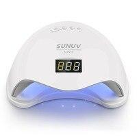 48ワットuvled SUN5ネイルランプ付き液晶ディスプレイ職業led