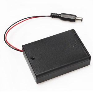 10 шт./лот, черный, 3 * AA, 3 в, батарейный отсек, держатель, чехол для хранения, коробка вкл/выкл с выключателем, свинцово-кислотный Разъем 5,5*2,1