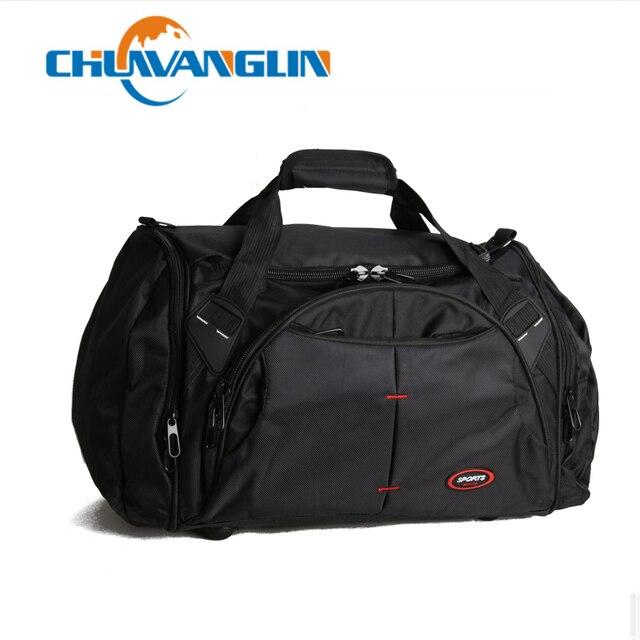Chuwanglin גברים נסיעות שקיות גדול קיבולת נשים לשמירת נסיעות דובון שקיות ניילון עמיד למים שקיות Bolso ZDD05054