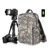 DSLR Camera Backpack Case for Photography and Laptop Travel Use Tripod Holder Cover Bag for Sony a6000 Canon EOS T6 Nikon D5500
