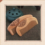 c57 High-quality natural peach wood comb without wide-tooth peach wood comb Wood carving Carved mahogany green sandalwood combed wooden head neck mammary gland meridian lymphatic massage comb wide teeth comb