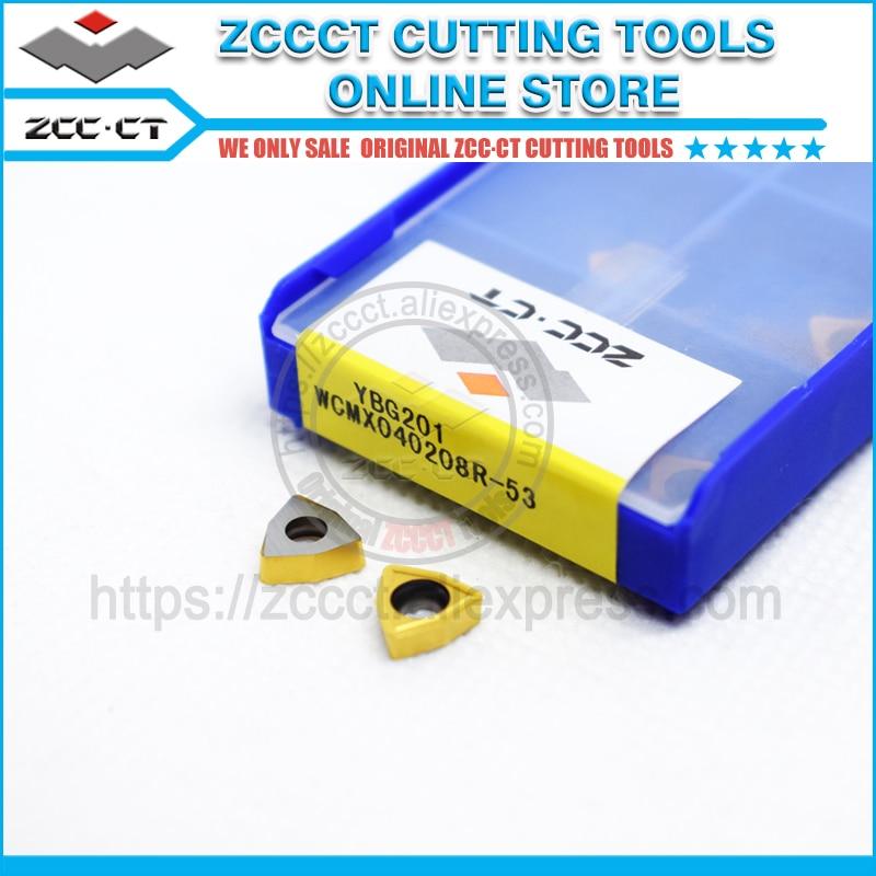 10Pcs ZCC.CT WCMX030208R-53 YBG201 U drill Shallow hole carbide inserts