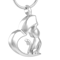 Low Price Wholesale Stainless Steel Dog Cremation Keepsake for Ashes Urn Memorial Necklace Pendants Jewelry IJD8129