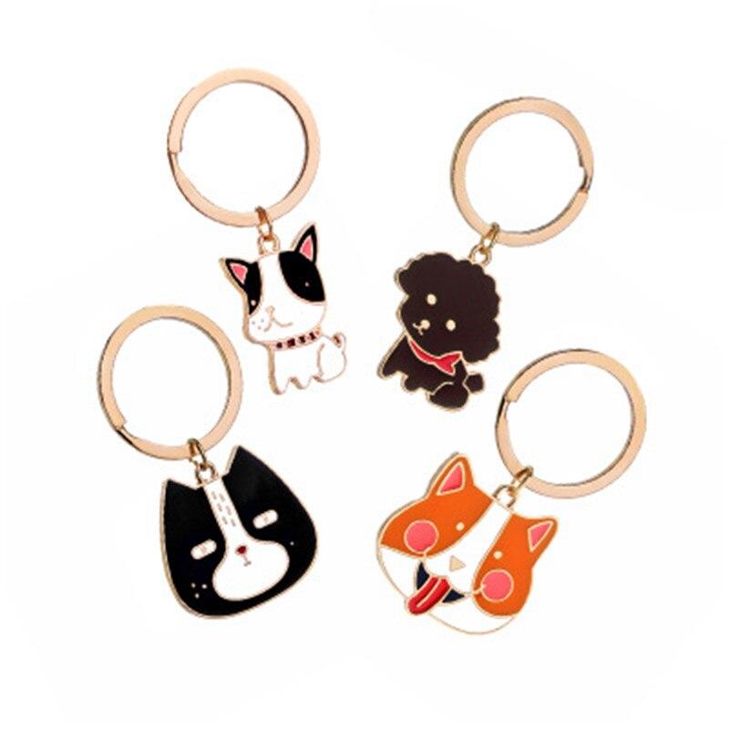 100% Wahr Europäischen Und Amerikanischen Schmuck Japanischen Kreative Mode Hund Schlüssel Kette Teddybär Bulldog Hund Anhänger Durchblutung Aktivieren Und Sehnen Und Knochen StäRken