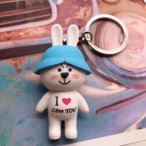 Мультфильм животных милый кролик брелок для женщин девочек кошелек брелоки на сумку аксессуары кролик подвеска автомобиль брелоки оптовая продажа