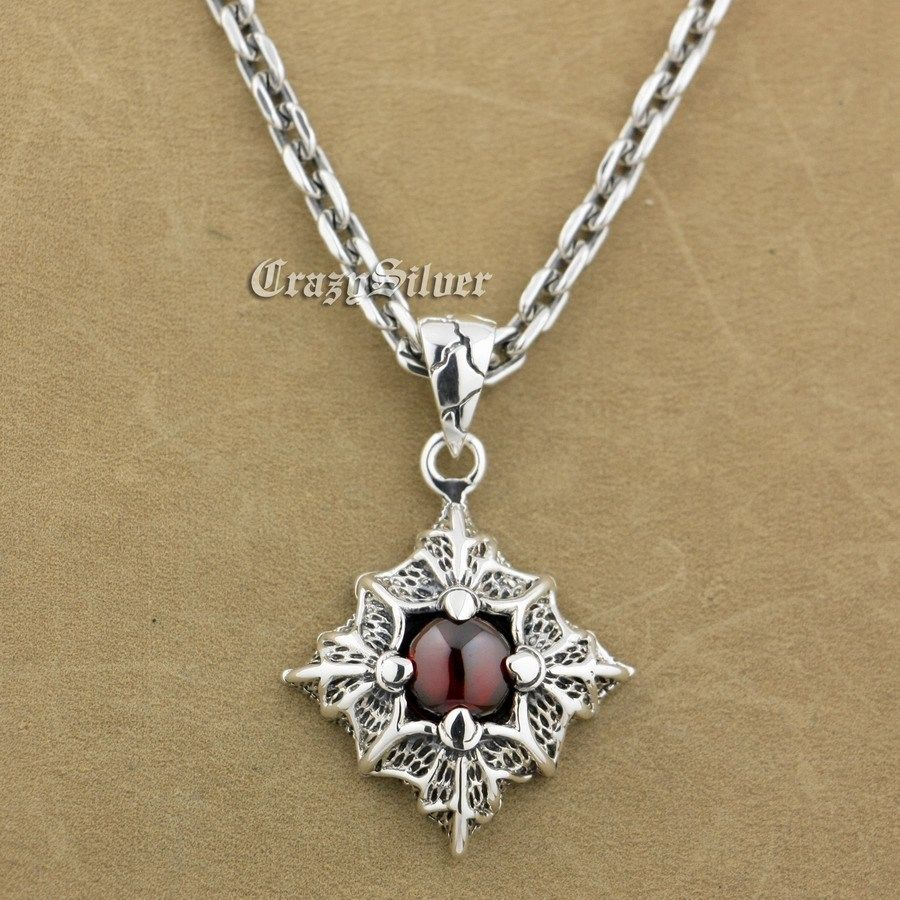 925 Sterling Silver Prismatic Claw Red CZ Stone Pendant 9S104A 92.5% Sterling Silver Necklace 24 inches 925 sterling silver lovely dumbo white cz stone pendant 9s107a 92 5