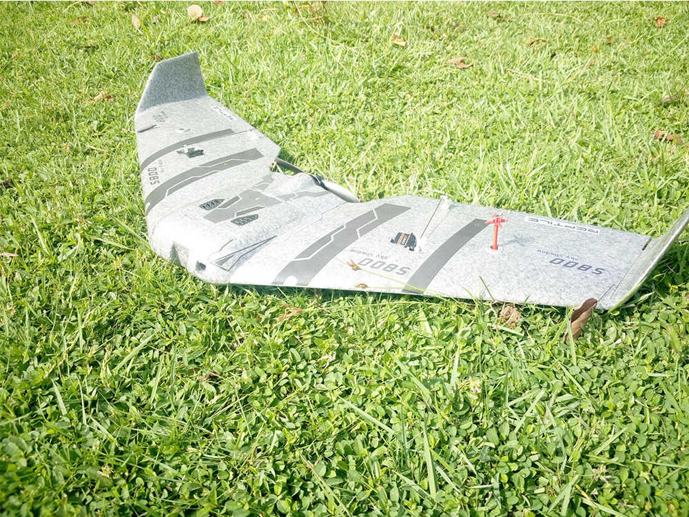Reptiel S800 V2 SKY SHADOW 820mm Spanwijdte Grijs FPV EVP Flying Wing Racer RC Vliegtuig KIT/PNP