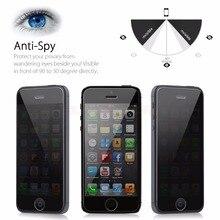 Анти-Шпион Конфиденциальности Закаленное Стекло Для iPhone 5 5S SE 5SE Полное Покрытие 9 H HD Clear Screen Protector