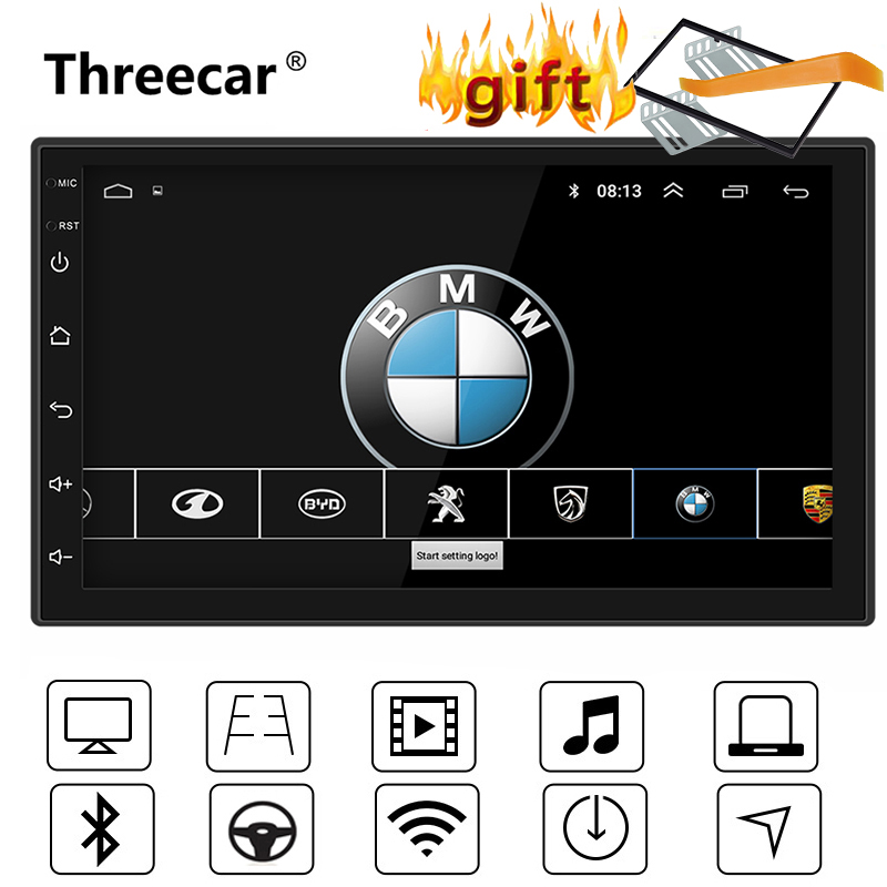 7'' Universal GPS Navigation Bluetooth 2 Din Car Radio Android 8.1 Wifi Car Audio Stereo FM USB MP5 Car player autoradio(China)