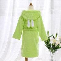 Children Hooded Bathrobe Towel Kids Boys Girls Cotton Lovely Robes Dressing Gown Kids Homewear Sleepwear with Belts