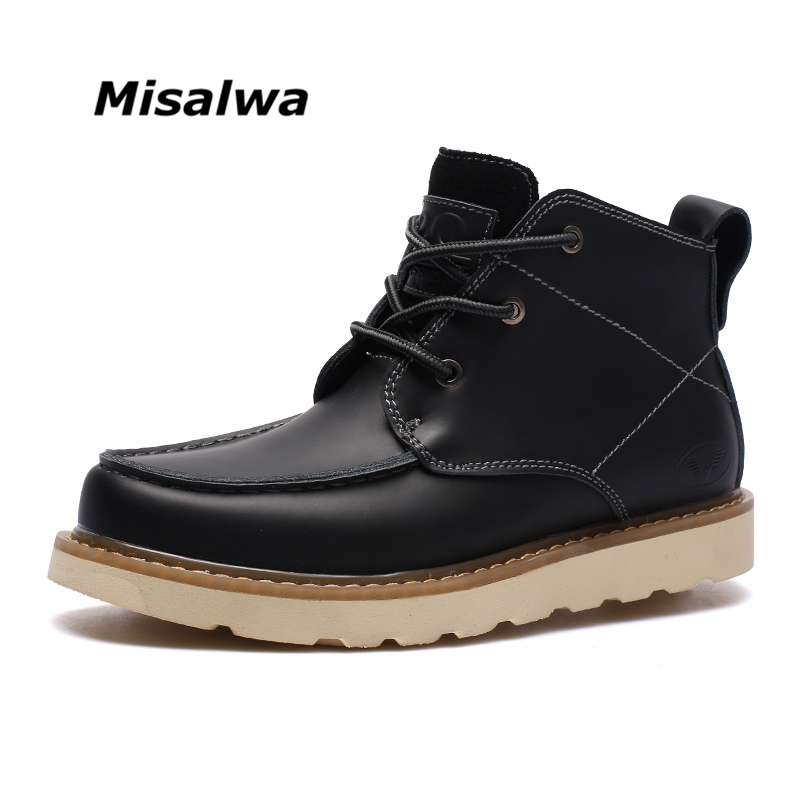 Misalwa 2018 New Fashion Men Boots Handmade Casual Men Autumn Ankle Boots Spring Autumn Working Boots new 2018 spring autumn 100