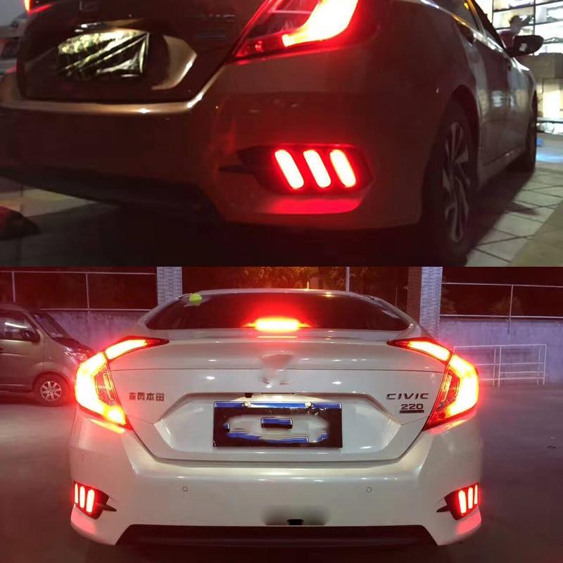 2017 2019 Honda Civic Coupe Chrome Delete Kit: Car Flashing 1Pair For Honda Civic 2016 2017 LED DRL Rear
