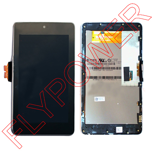 ФОТО LCD display+Touch Screen Digitizer for ASUS Google Nexus 7 1st Gen ME370T with frame lcd screen Wifi Version By Free Shipping