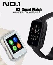 2016 Hot D3 Bluetooth elegante reloj para Apple / Ios / Android teléfono de ayuda SIM / TF hombres mujeres niños del ritmo cardíaco reloj