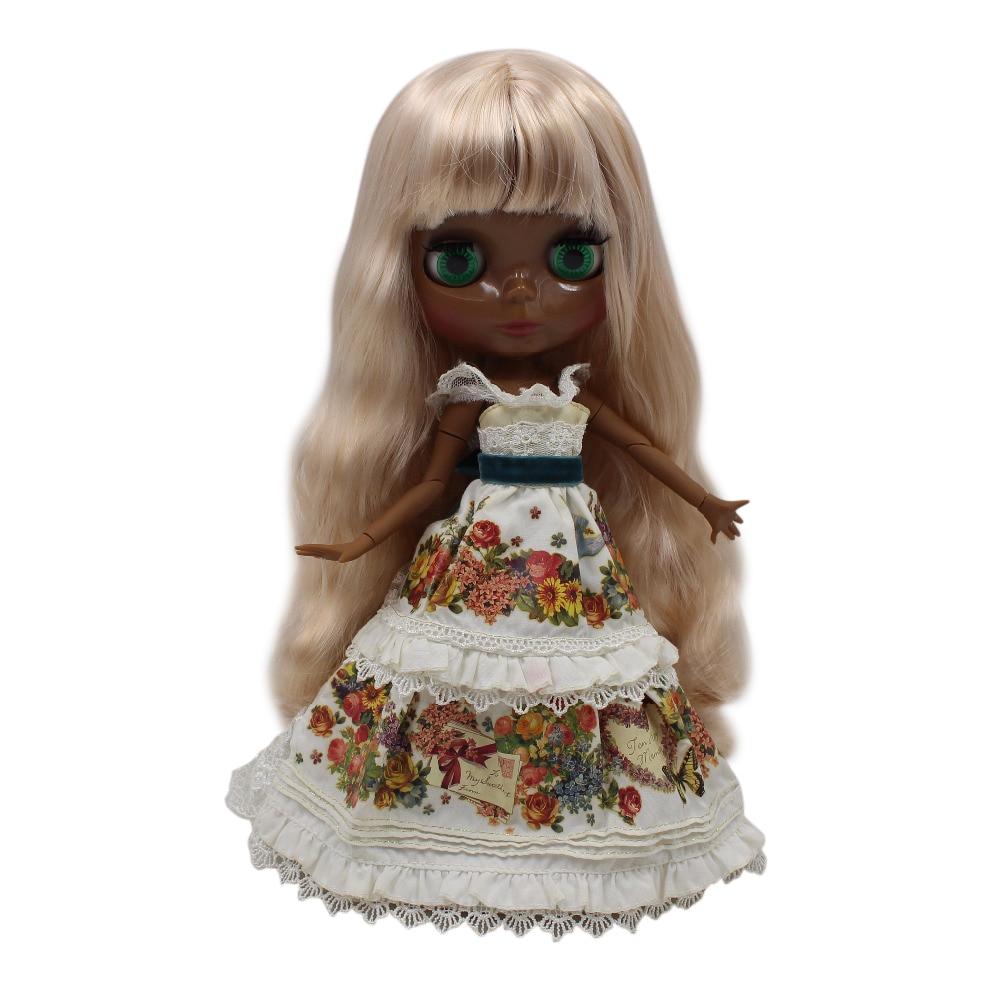 fortune days factory blyth doll super black skin tone darkest ultra skin blonde hair joint body 1/6 30cm 280BL3139 fortune days factory blyth doll super black skin tone darkest skin dark brown hair joint body 1 6 30cm bl0521