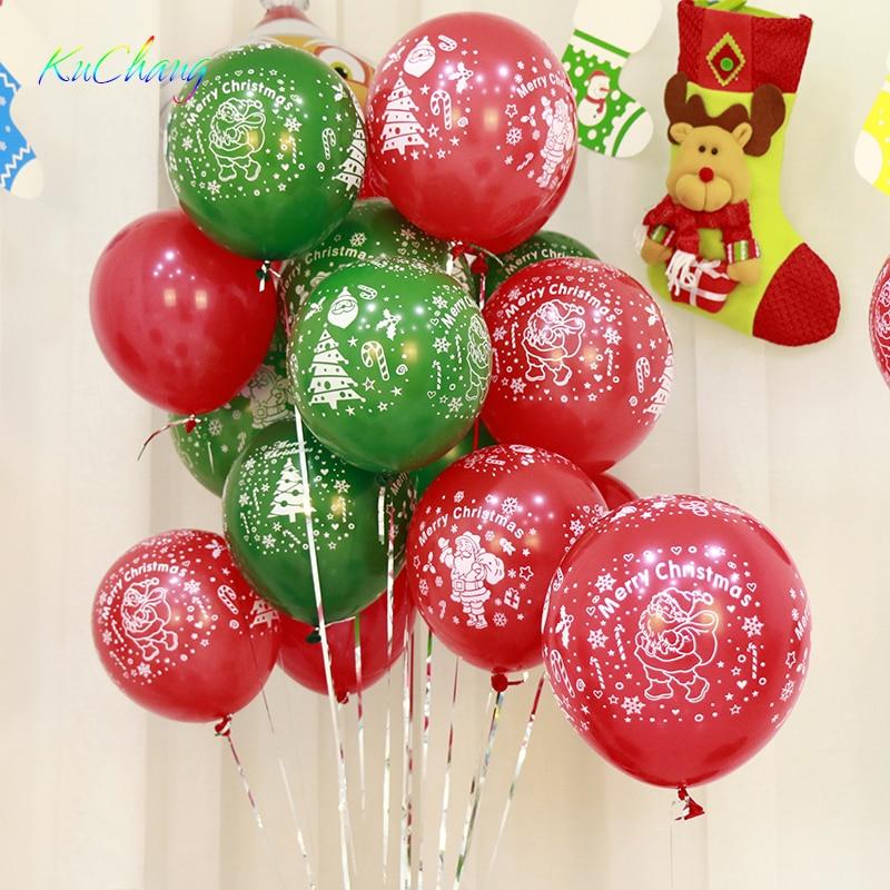 20pcs/lot 10 inch Merry Christmas printed latex balloons ...