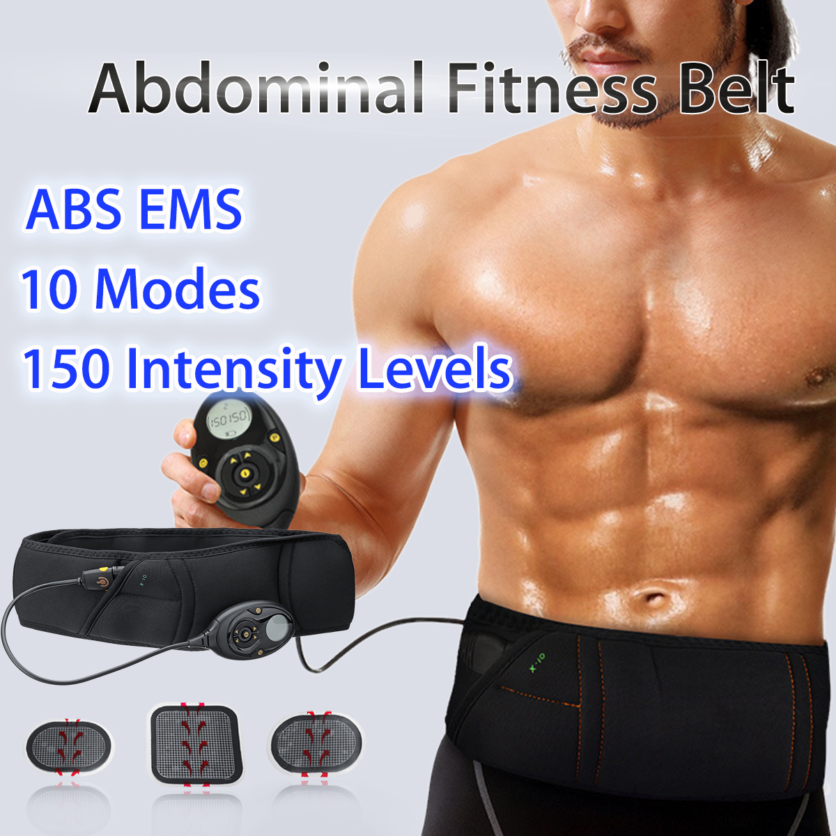 EMS Электрический мышц живота Пояс для похудения Похудение Фитнес массаж Sway вибрации мышцы живота талии тренер стимулятор