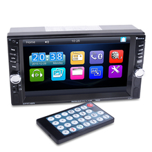 "2 Din Auto Multimedia Player 6,6 ""HD Bluetooth Stereo Radio FM MP3 MP5 Video Audio USB Auto Elektronik autoradio lenkung-rad"