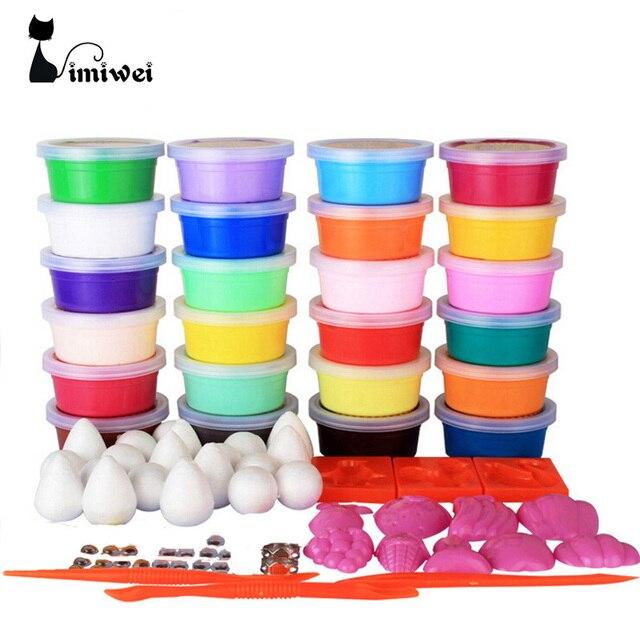 24 цветов play doh умный пластилин детские игрушки diy полимерный магнитный клей мягкая глина блоки пластилин play up polymer clay