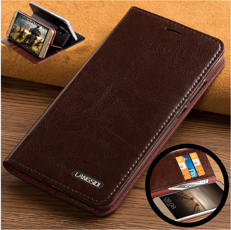 ND06 genuine leather flip case cover for OPPO R15 Dream Mirror phone case with card slots free shipping