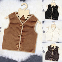 Toddler Kids Baby Girl Winter Warm Clothes Faux Fur Waistcoat Thick Coat Outwear(China)