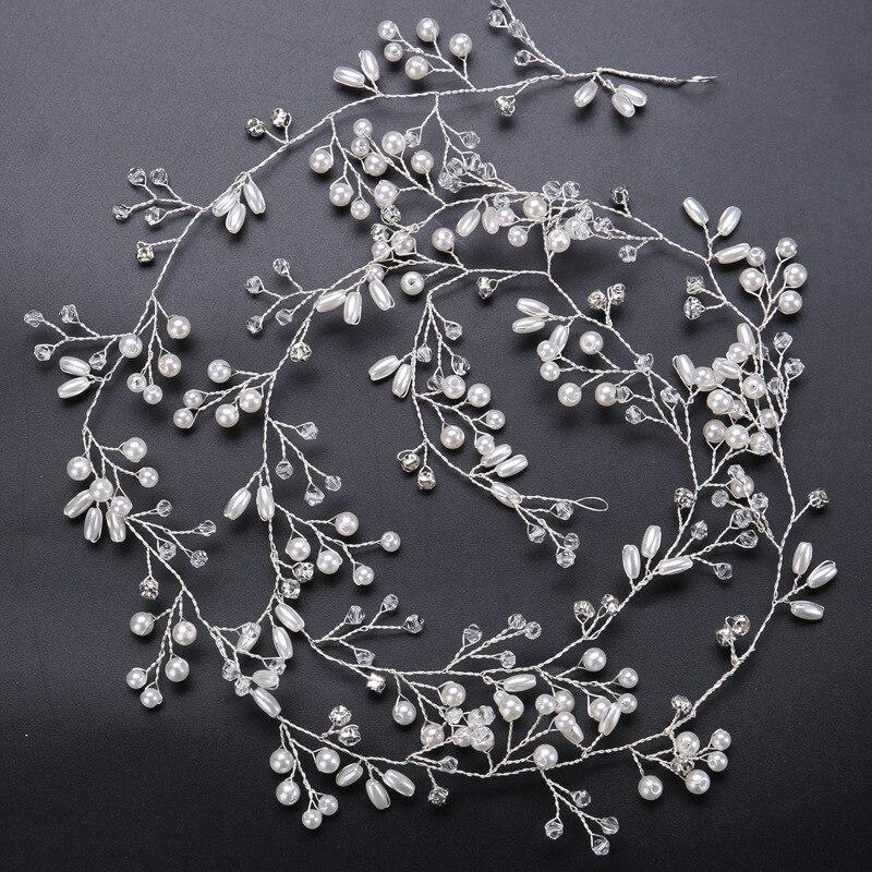 Idealway Handmade Bridal Crystal Rhinestone Hair Piece Әйелдер - Сәндік зергерлік бұйымдар - фото 5