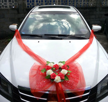Wedding Centerpieces Silk Flower Car Decorative FakeFlower Garland Decorative PE Rose Wreath Supplies Artificial Flowers