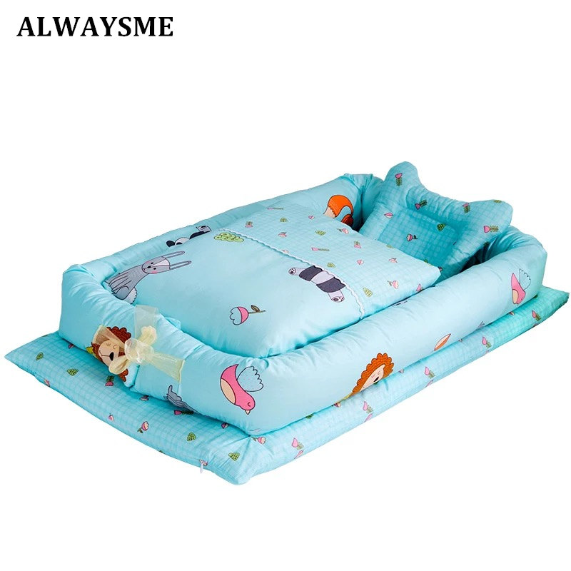 Alwaysme Baby Kids Infant Co Sleeping Crib Bed Portable