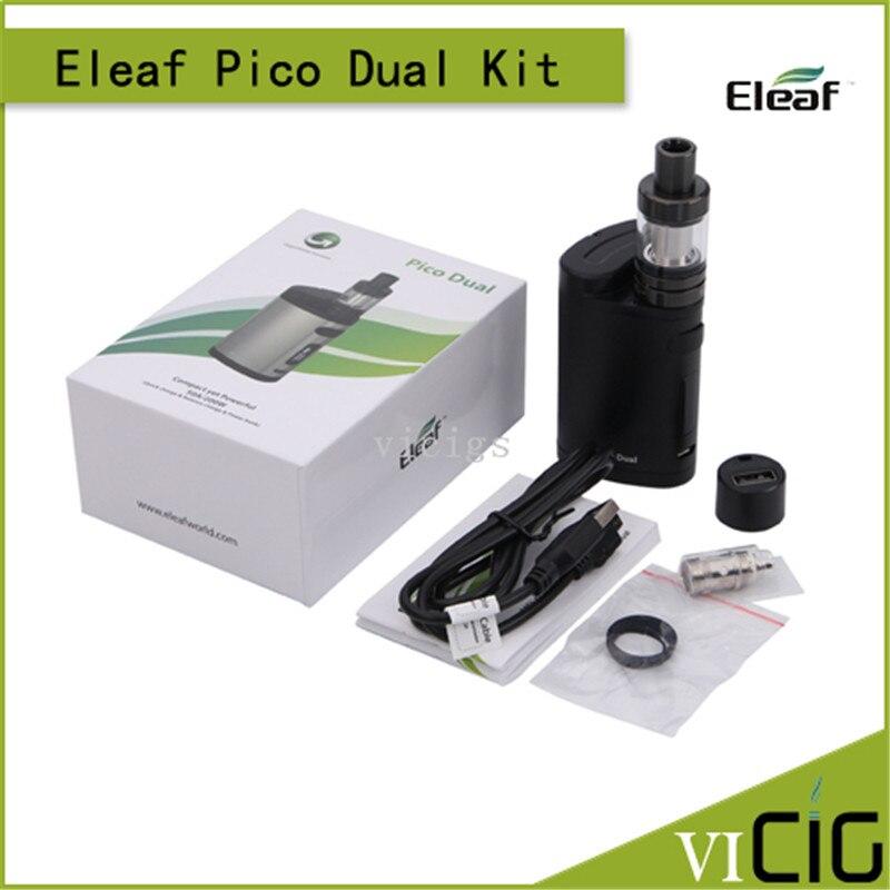 100% Original Eleaf istick Pico Dual Kit with 2ML MELO III Mini Atomizer 200W VW/TC Box MOD электронная сигарета eleaf istick qc 200w с melo 300 clearomizer kit