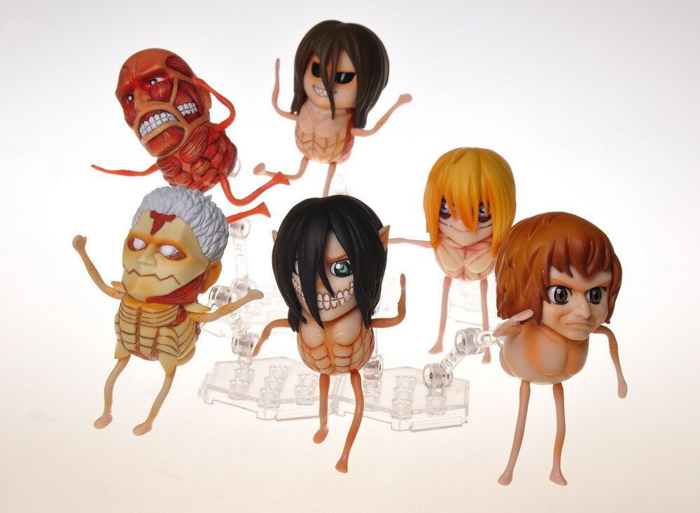 2pcs/set Attack on Titan Anime Action Figure Collection toys for christmas gift