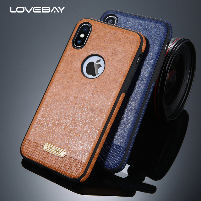 Lovebay For iPhone X Phone Case Luxury PU Leather Soft Silicon TPU Back Cover Cases Coque For iPhone 5 5S SE 6 6S 7 7 Plus