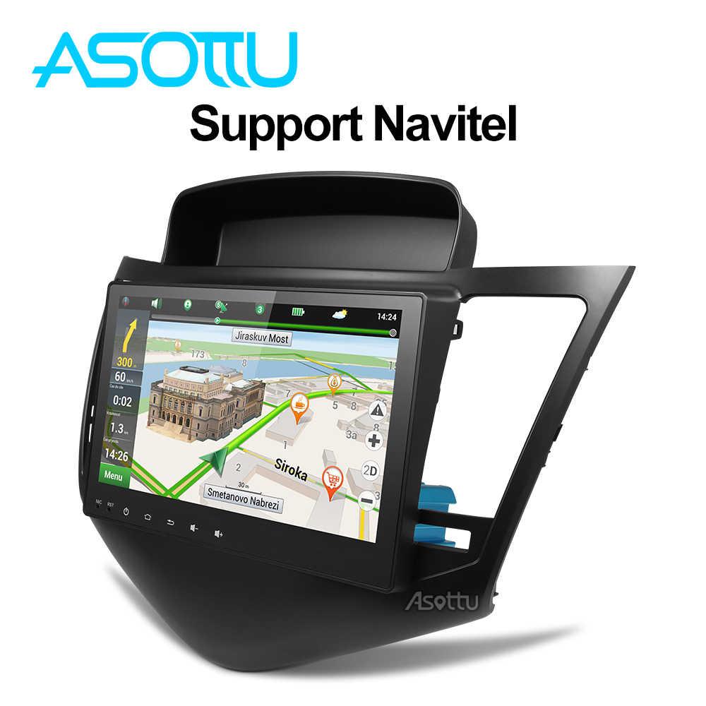 Asottu アンドロイド 8.1 カー dvd gps プレーヤーのためにシボレークルーズ 2009-2013 カー Dvd プレーヤーラジオビデオプレーヤーナビゲーション GPS カーステレオ
