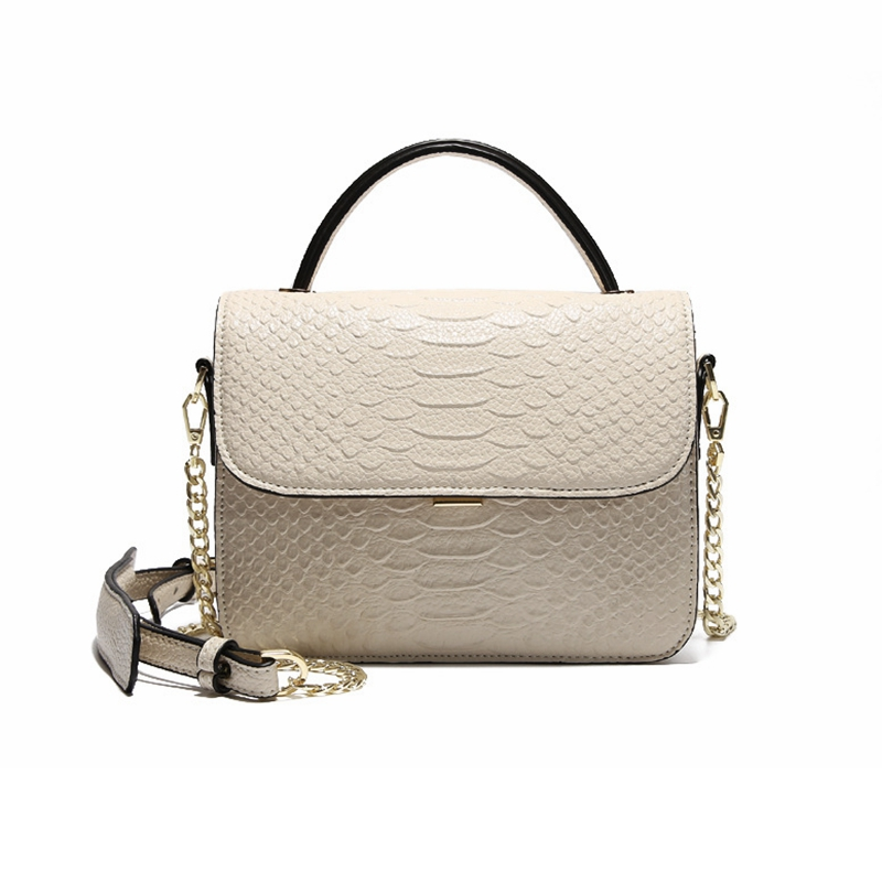 Women's Bag Fashion Alligator Crocodile Genuine Leather Shoulder Bag Women Crossbody Messenger Bag Chain Flap Women's Handbag 2017 women bag cowhide genuine leather fashion folding handbag chain shoulder bag crossbody bag handbag party clutch long wallet