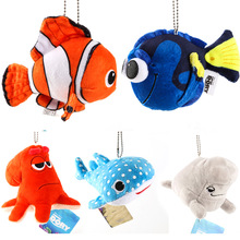 5pcs/set Finding Nemo Pendant Clownfish Dory Fish Bag Accessory Keychain Plush Dolls Stuffed Toys For Baby Kids Birthday Gifts