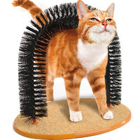 Pet Cat Toy Self Arch Groomer with Round Fleece Pet Scratching Devices Cat Massager Cat Scratcher Toy For Cat With Free Catnip